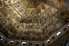洗礼池中央寺院佛罗伦萨意大利 库存图片
