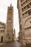 洗礼池中央寺院意大利帕尔马 免版税库存照片