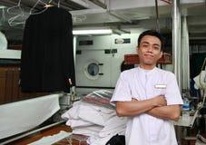 洗衣店人员 库存图片