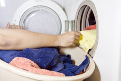 洗衣店洗涤 免版税库存照片