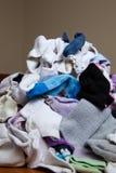 洗衣店隐约地出现的堆 免版税库存图片