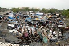 洗衣店mumbai街道 库存图片
