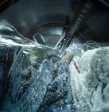 洗衣机的内部看法 库存图片