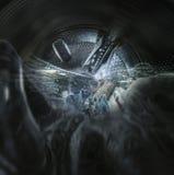 洗衣机的内部看法 免版税图库摄影