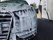 洗车时间 图库摄影