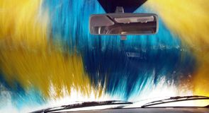 洗车 免版税图库摄影