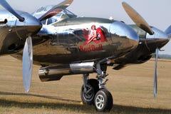 洛克希德闪电P38 美国第二次世界大战战斗机 库存图片