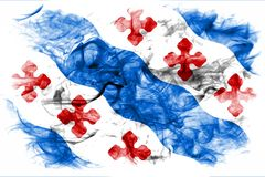 洛克维尔市烟旗子,马里兰状态,阿梅尔美国  库存图片