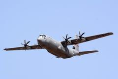 洛克西德・马丁C-130J超级赫拉克勒斯 免版税库存照片