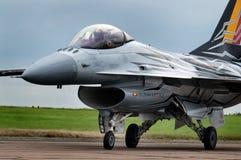 洛克西德・马丁F-16战隼,现代快速的喷气式歼击机 库存照片