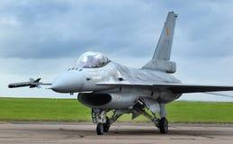 洛克西德・马丁F-16战隼,现代快速的喷气式歼击机 免版税库存照片
