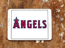 洛杉矶天使棒球队商标 库存照片