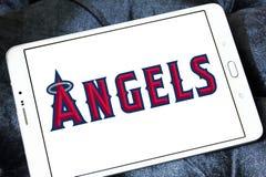 洛杉矶天使棒球队商标 免版税库存照片