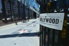 洛杉矶,加利福尼亚,美国, 2017年4月17日:星胡同的入口在好莱坞的 图库摄影