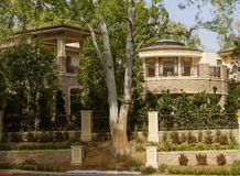 洛杉矶,美国,贝弗莉山庄迷人的豪宅  库存图片