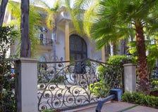 洛杉矶,美国,迷人的贝弗莉山庄豪宅 库存照片