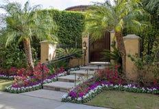 洛杉矶,美国,迷人的贝弗莉山庄豪宅 免版税库存照片
