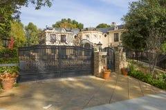 洛杉矶,美国,迷人的贝弗莉山庄豪宅 库存图片