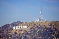 洛杉矶,美国, 2016:02 :在小山的26好莱坞标志在洛杉矶 免版税库存图片