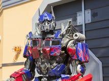 洛杉矶,美国, 2016:02 :在环球影业的25台变压器机器人在洛杉矶 免版税库存图片