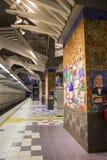 洛杉矶,美国, 2016:02 :25地铁车站,普遍城市 库存照片