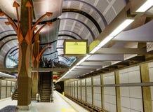 洛杉矶,美国, 2016:02 :24条地铁车站好莱坞线 库存图片