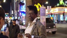 洛杉矶,美国- 2019年5月9日:名望好莱坞步行  影视素材