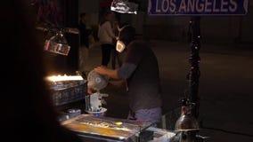 洛杉矶,美国- 2019年5月9日:名望好莱坞步行  股票视频