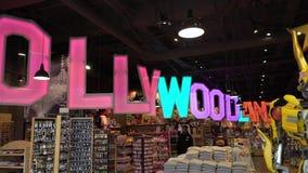 洛杉矶,美国- 2019年5月9日:纪念品店在好莱坞 股票录像