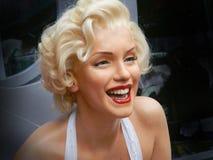 洛杉矶, 11月 14日2014年:玛丽莲・梦露在洛杉矶街道的蜡象画象 默林门罗名人 蜡象名人  库存照片
