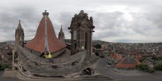 洛桑的历史的中心的空中全景 图库摄影