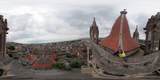 洛桑的历史的中心的空中全景 库存图片
