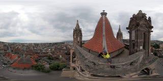 洛桑的历史的中心的空中全景 免版税库存照片
