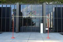 洛桑,瑞士- 2017年6月05日:在奥林匹克的入口 库存图片