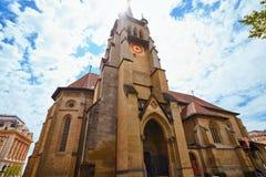 洛桑St弗朗索瓦教会在瑞士 库存照片