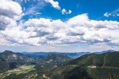 洛矶山国家公园,科罗拉多山风景 野生生物保护区在美国 库存图片