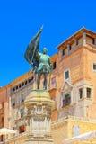 洛索亚和纪念碑塔风景对胡安喝彩声在Segov 图库摄影