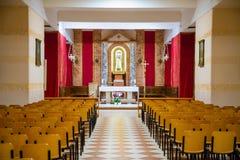 洛雷托省,安科纳,意大利- 8 05 2018年:圣诞老人住处Statu大教堂在洛雷托省,意大利 库存图片