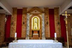 洛雷托省,安科纳,意大利- 8 05 2018年:圣诞老人住处Statu大教堂在洛雷托省,意大利 库存照片