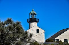 洛马角灯塔在圣地亚哥 免版税库存照片