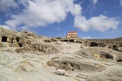 洞市Uplistsikhe在乔治亚 库存图片