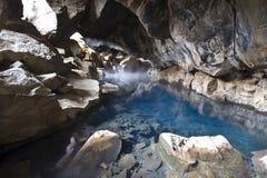 洞热水 库存图片