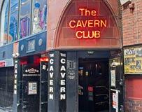 洞穴俱乐部利物浦mathew st英国 免版税库存图片