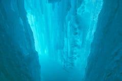 洞穴冰 免版税库存照片