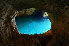 洞穴在地中海海岸的Rosh Hanikra 免版税库存照片