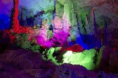 洞穴在桂林,中国 免版税库存照片