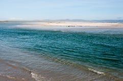 洞穴海滩, Hermanus,南非 免版税库存照片