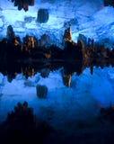 洞穴瓷长笛桂林芦苇 库存照片