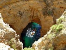 洞穴访问 免版税库存照片