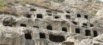 洞穴longmen 免版税库存图片